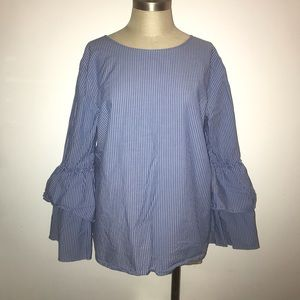 Loft Long Sleeve Striped Shirt ✨